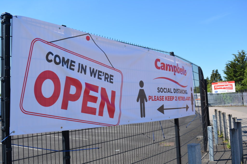 Campbells We are open banner