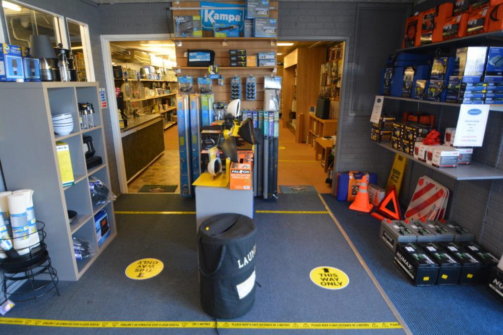Indoor one-way system