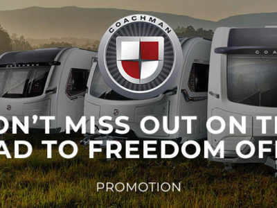 Coachman Road to Freedom Offer Banner New 2021 Models